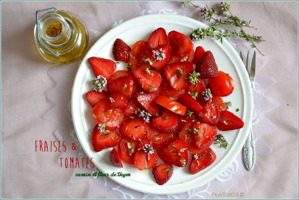 salade fraises tomates cerise