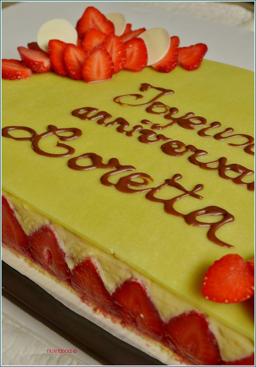 Un fraisier confectionné pour un anniversaire !