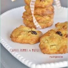 cookies sans beurre, pommes et muesli