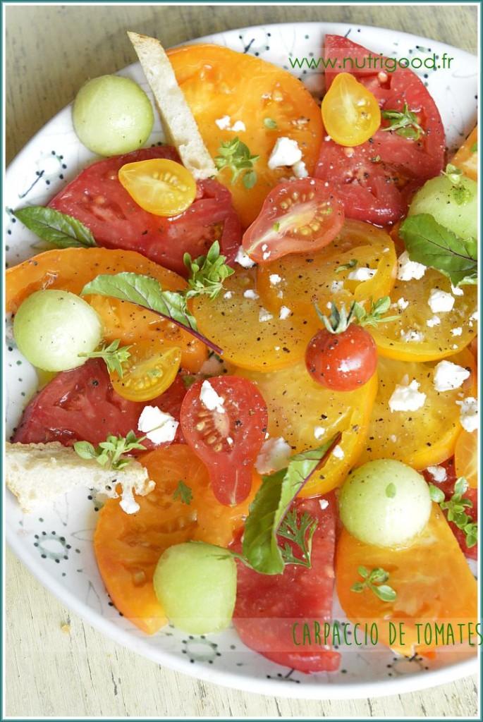 carpaccio tomates melon