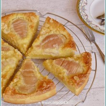 tarte poires amandine bourdaloue
