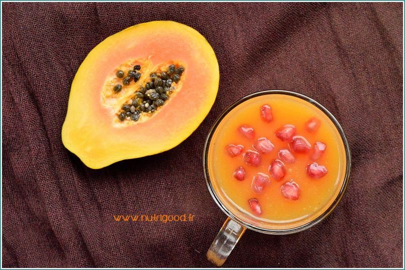 smoothie orange papaye
