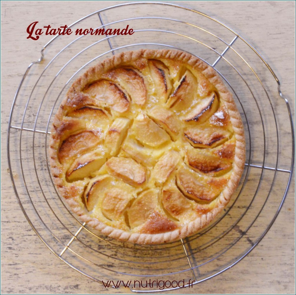 la tarte normande une autre tarte aux pommes nutrigood. Black Bedroom Furniture Sets. Home Design Ideas