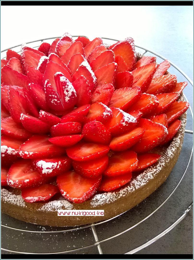 tarte aux fraises creme amandes pistache