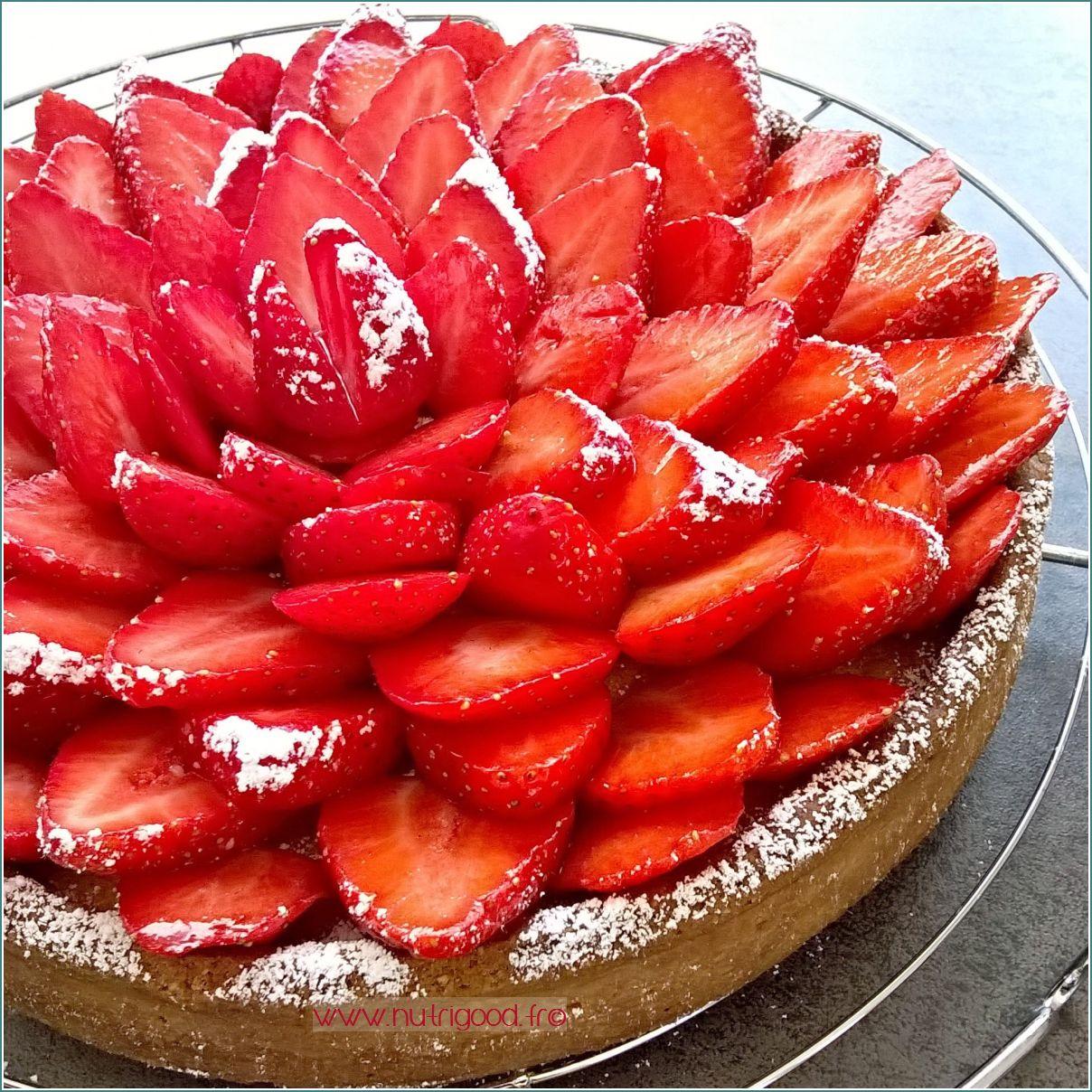tarte fraises creme amandes pistache