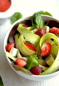 salade fraises courgettes feta