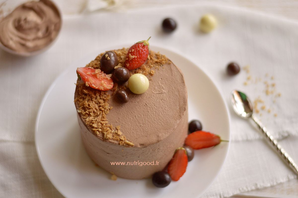 layercake sans lait fraise chocolat