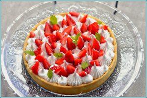 cours patisserie enfant ados Valencin- tarte fraises façon Michalak