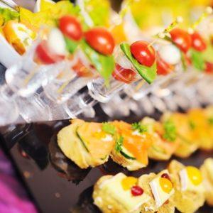 aperitif dinatoire cocktail buffet salé