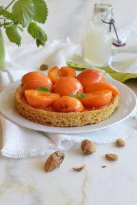 tarte sable breton abricots orgeat verveine