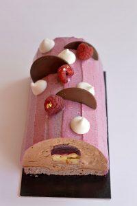cours patisserie buche Noel chocolat framboises cassis (14-3)
