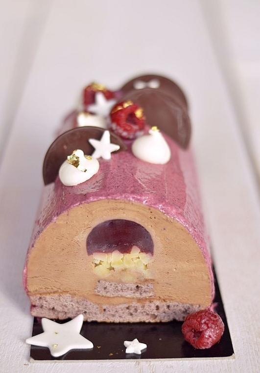 Buche Chocolait Cassis Pomme