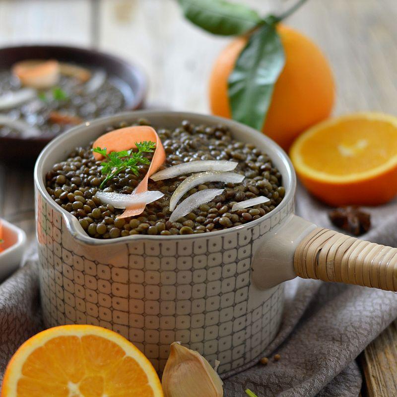 Risotto de lentilles aux oranges
