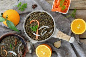 cours de cuisine risotto de lentilles aux oranges