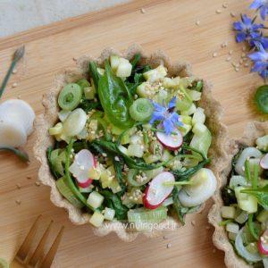 tarte salée fanes de radis sarrasin
