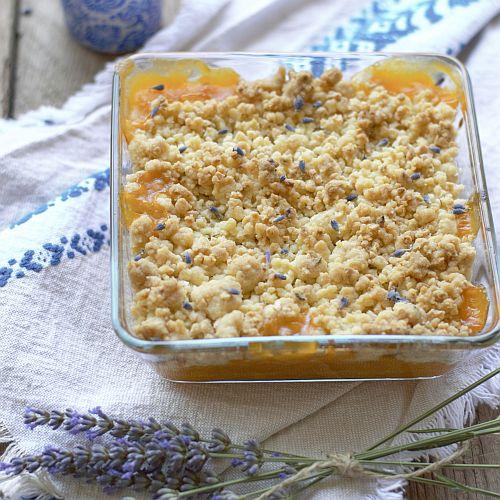 crumble peches lavande sans gluten Nutrigood