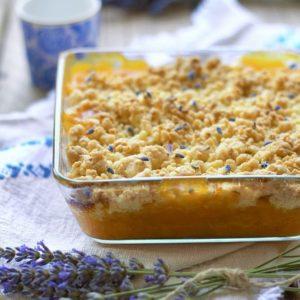 crumble_peches_lavande_sans gluten Nutrigood