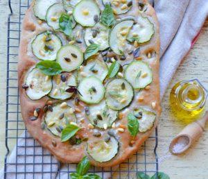 cours de cuisine_focaccia courgettes sarrasin sans glute