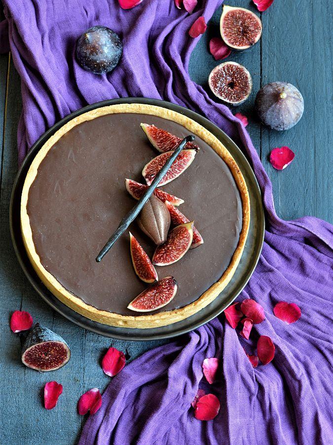 tarte confit de figues chocolat Nutrigood
