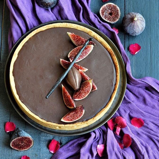 Tarte aux figues et chocolat