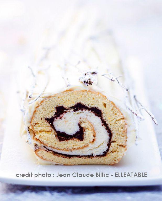 Buche de Noel vanille chocolat (enfants)