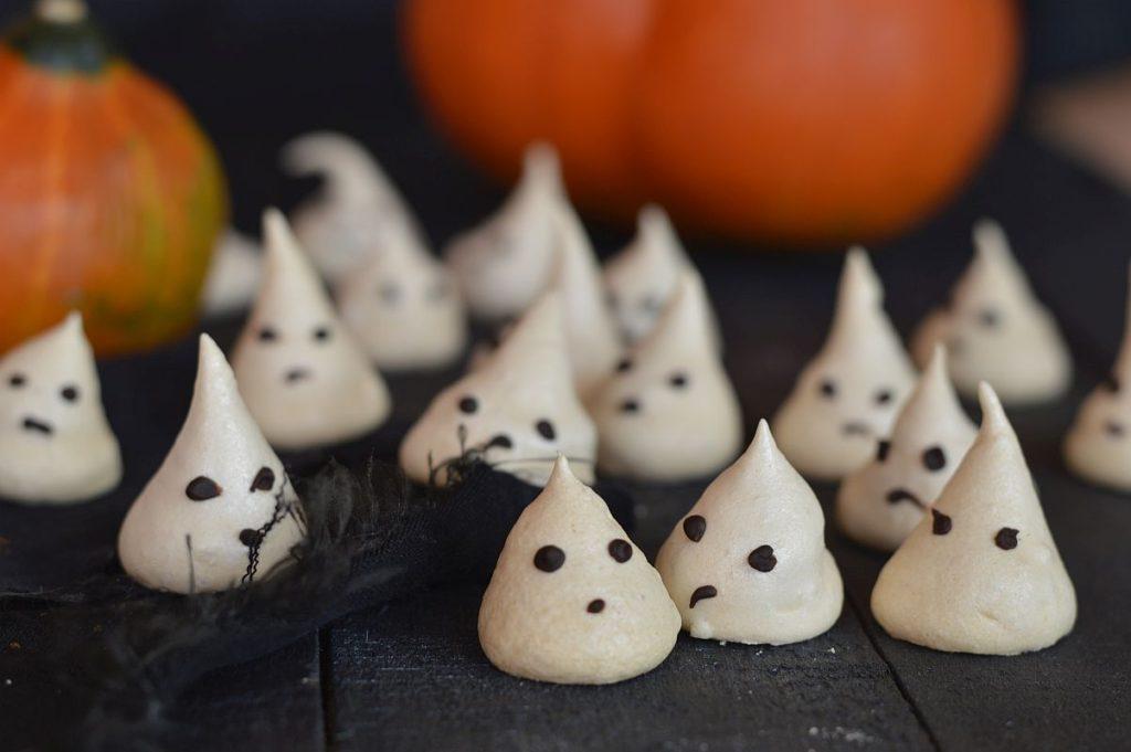 meringues fantomes Halloween