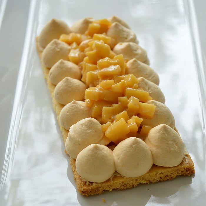 Sablé Breton, pommes caramel beurre et fleur de sel (famille)