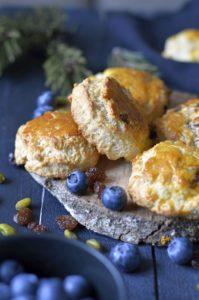 recette scones raisins secs myrtilles
