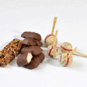 atelier patisserie barres cérélales bonbon chocolat cranberries bounty