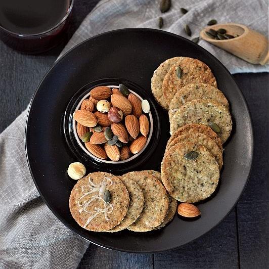 Sablés salés amandes et autres graines