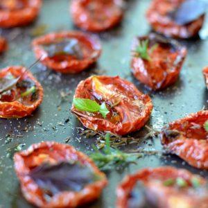 cours de cuisine recette tomates confites séchées au four