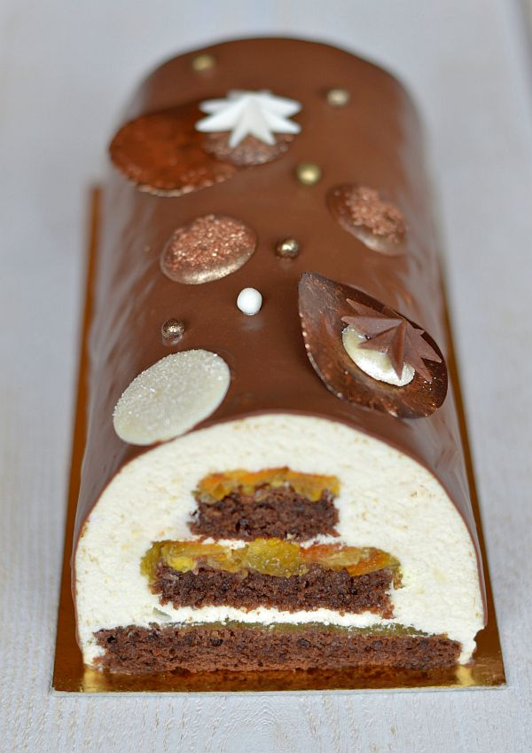 cours patisserie buche chocolat orange glacage