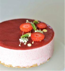 cours de patisserie_entremets fraise framboise