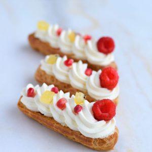 cours patisserie eclairs et choux vanille sans sucre