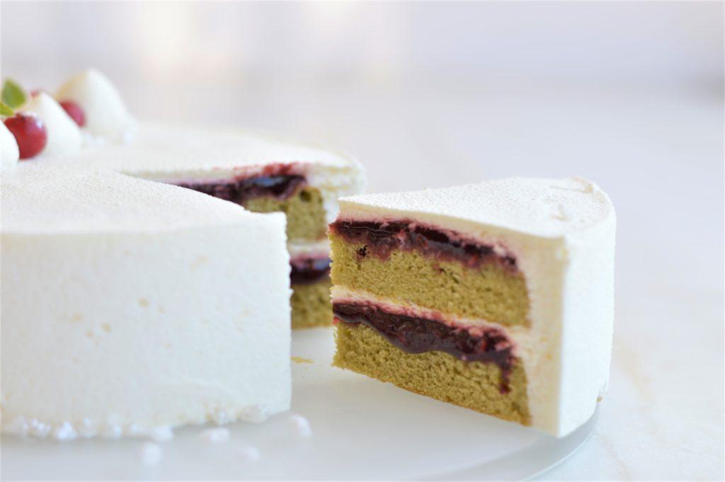 recette entremets groseiles framboises matcha yaourt
