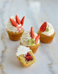 cours patisserie enfants cupcake fraise vanille