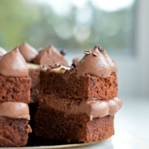 brownie chocolat farci ganache montée