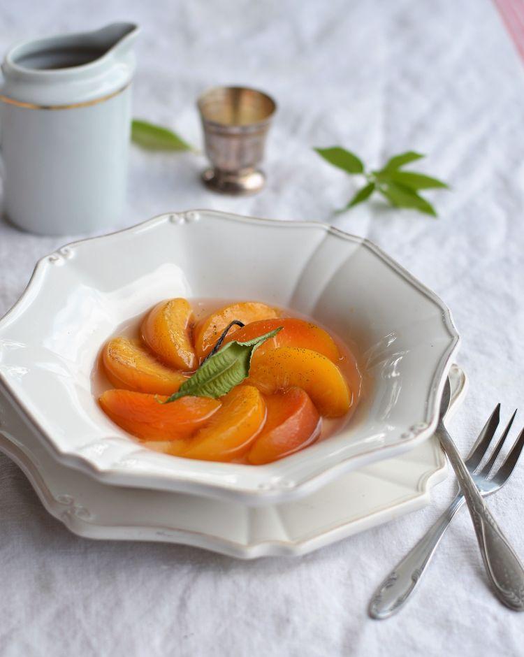 recette peche pochees vanille verveine citron
