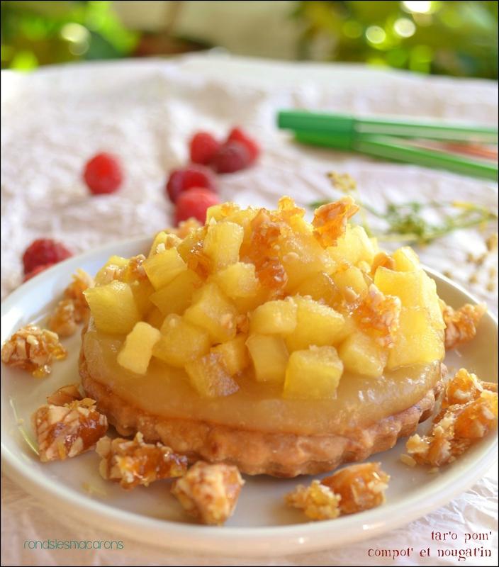 tarte aux pommes et nougatine b5