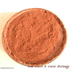 tarte orange choco