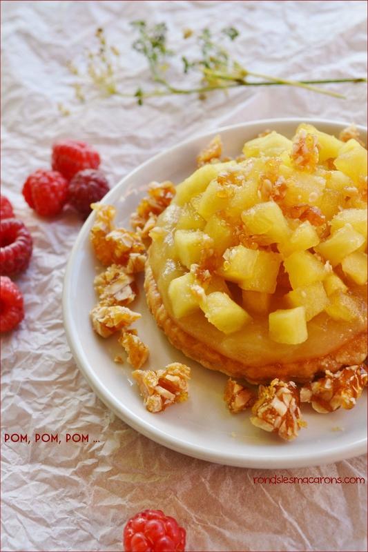 tarte pommes et nougatine b1